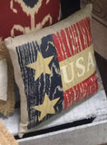 U-S-A Mini Throw Pillow