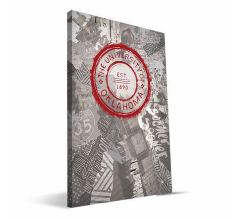 "16"" x 24"" University of Oklahoma Seal Canvas"