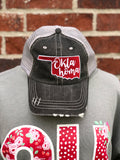 Crimson (State of Oklahoma) Trucker Hat