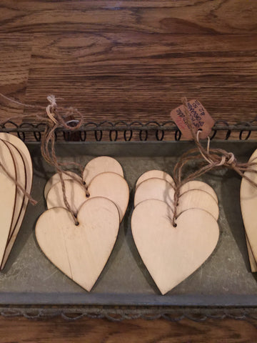 "3"" Wood Heart Ornament"