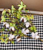 Cotton Stem with Greenery