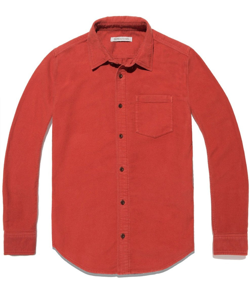 Outerknown Lost Coast Townes Corduroy Shirt Henna