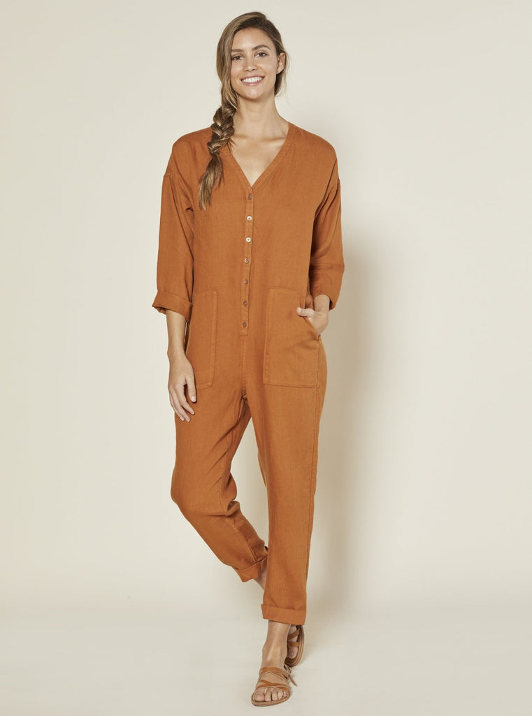 Outerknown Retrograde Jumpsuit Rust