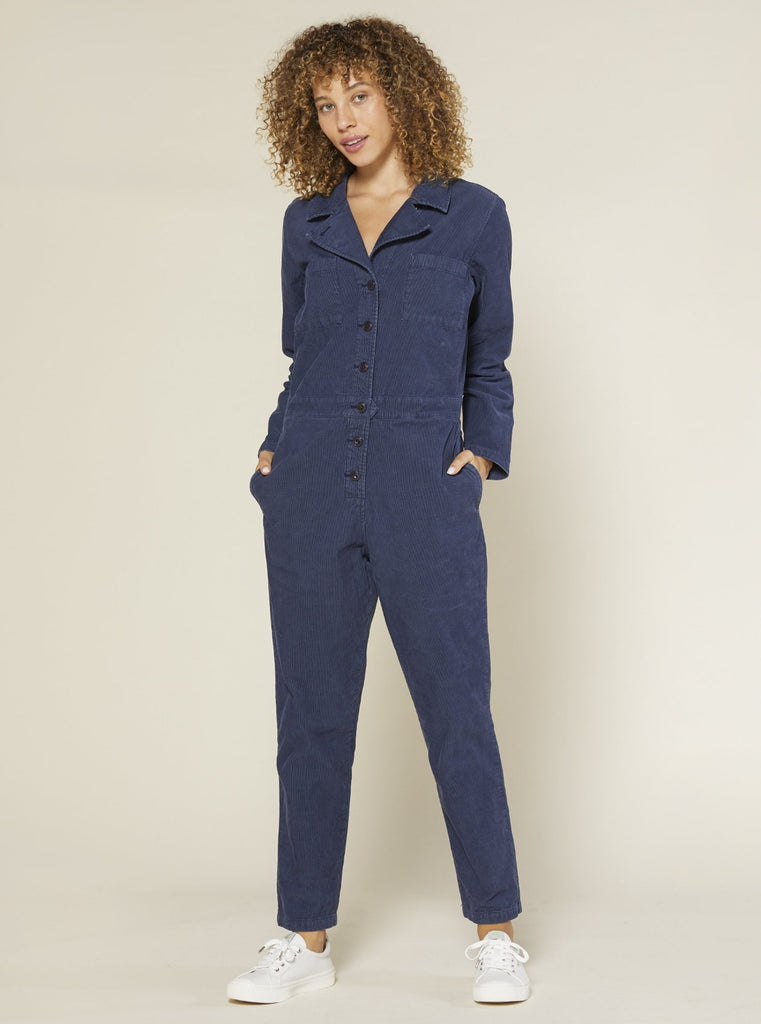 Outerknown Lou Cord Jumpsuit Admiral Blue