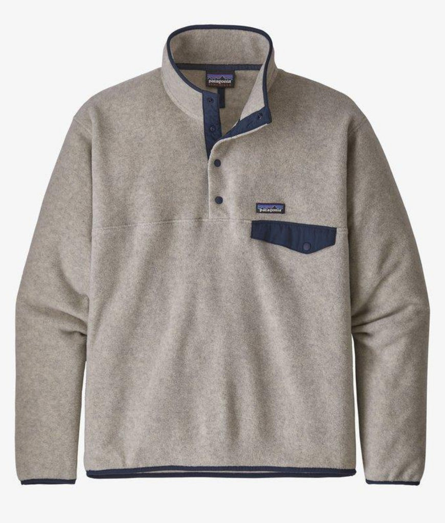 Patagonia Men's Lightweight Synchilla® Snap-T® Fleece Pullover Oatmeal