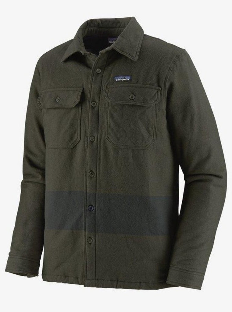 Patagonia Men's Insulated Fjord Flannel Jacket Green