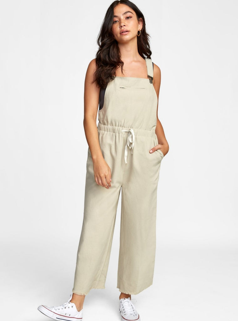 RVCA Addition Jumpsuit Fog