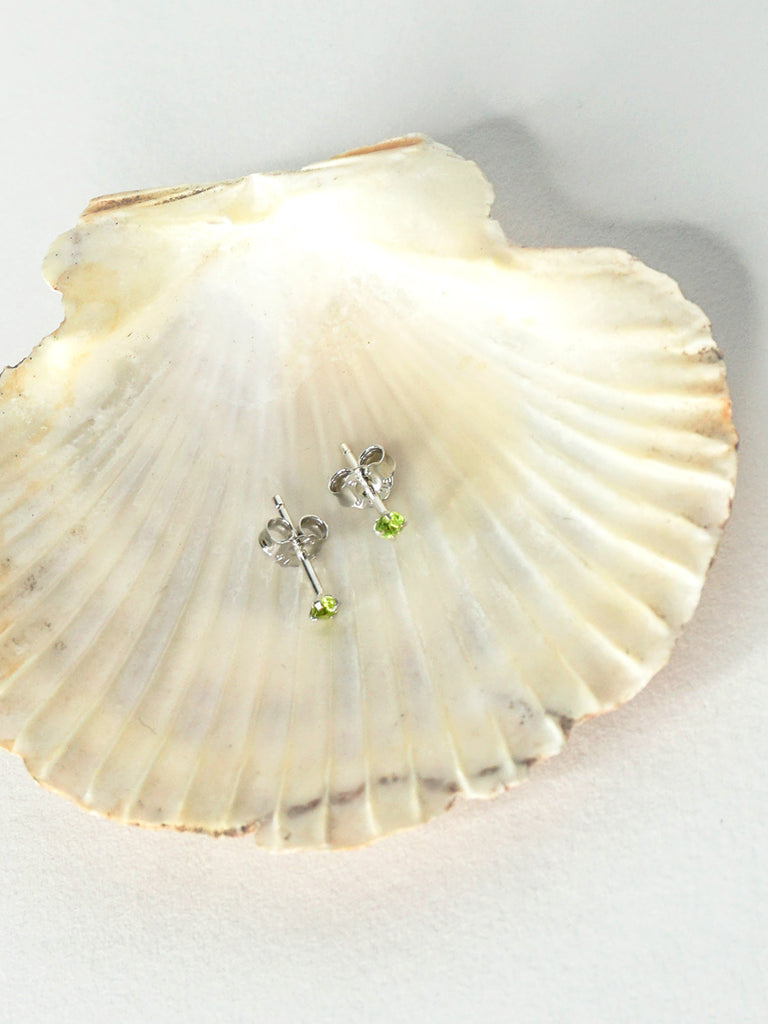 Sterling Silver Lime Stud Earrings