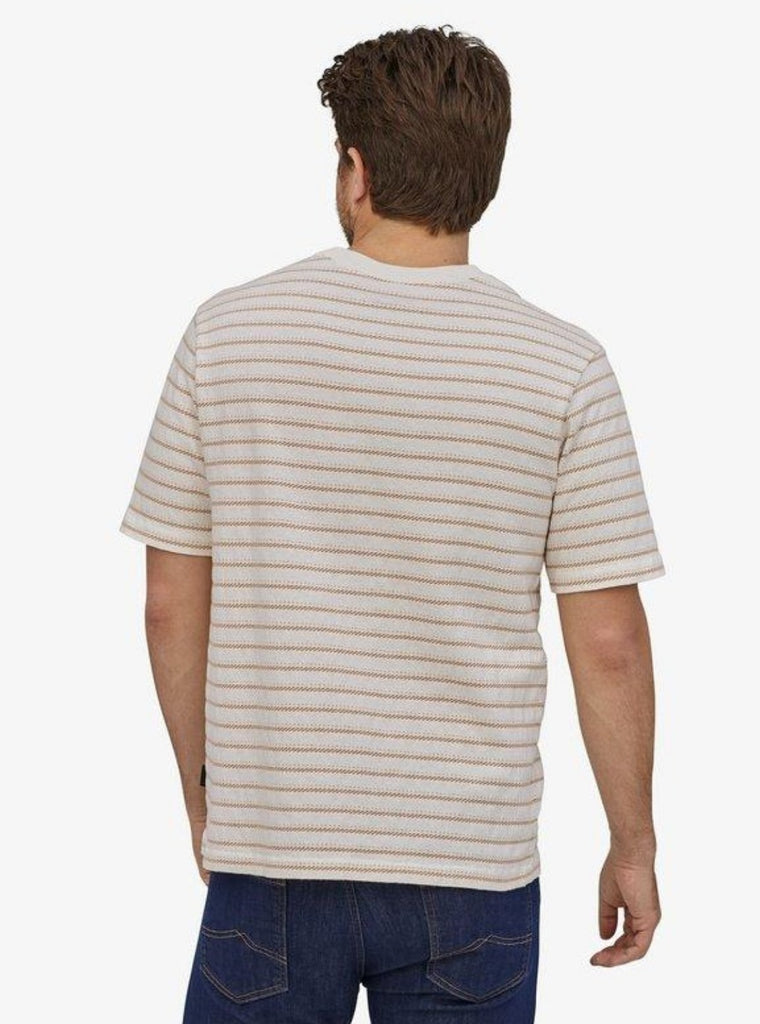 Patagonia Men's Organic Cotton Midweight Pocket Tee Cordelette: Birch White