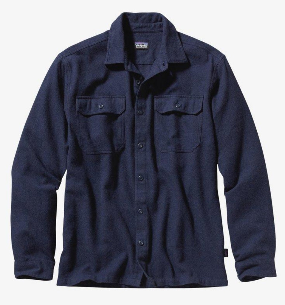 Patagonia Men's Long-Sleeved Fjord Flannel Navy Blue