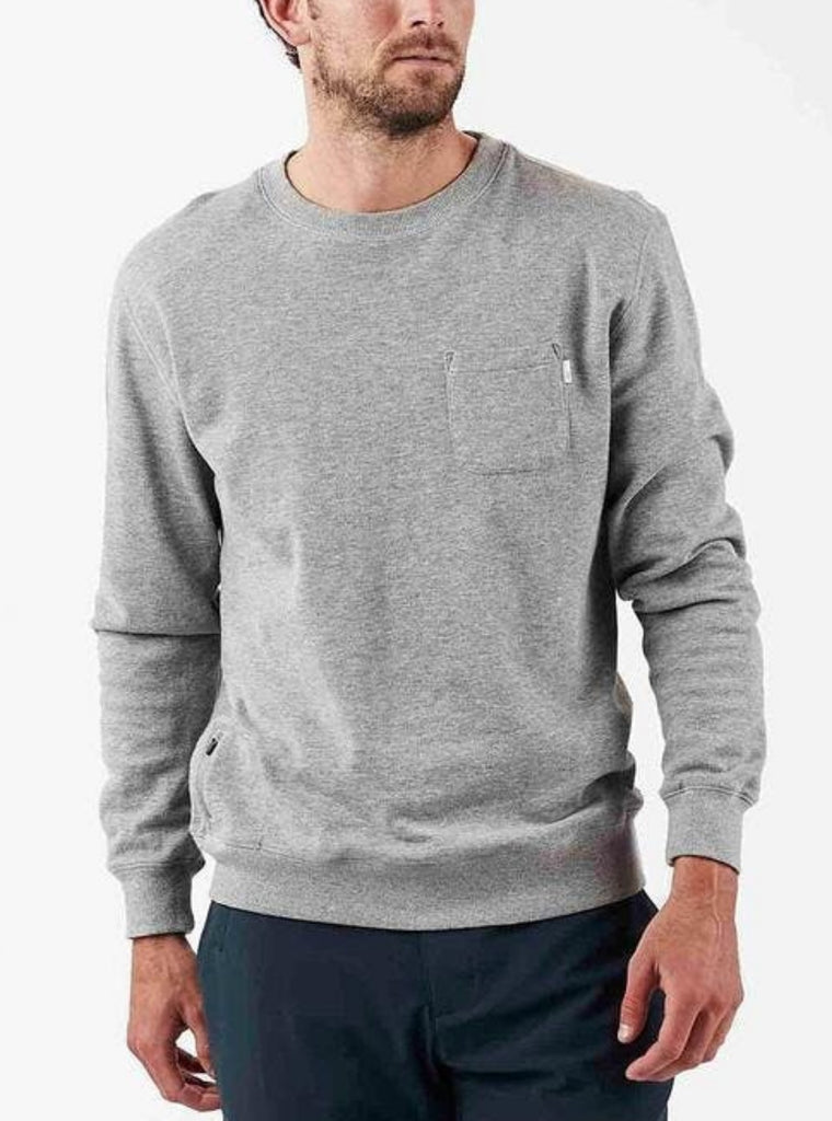 Vuori Jeffreys Pullover Crewneck Shirt Heather Grey