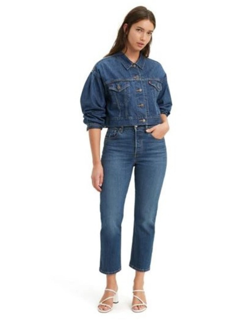 Levis 501 Crop Jeans Charleston High