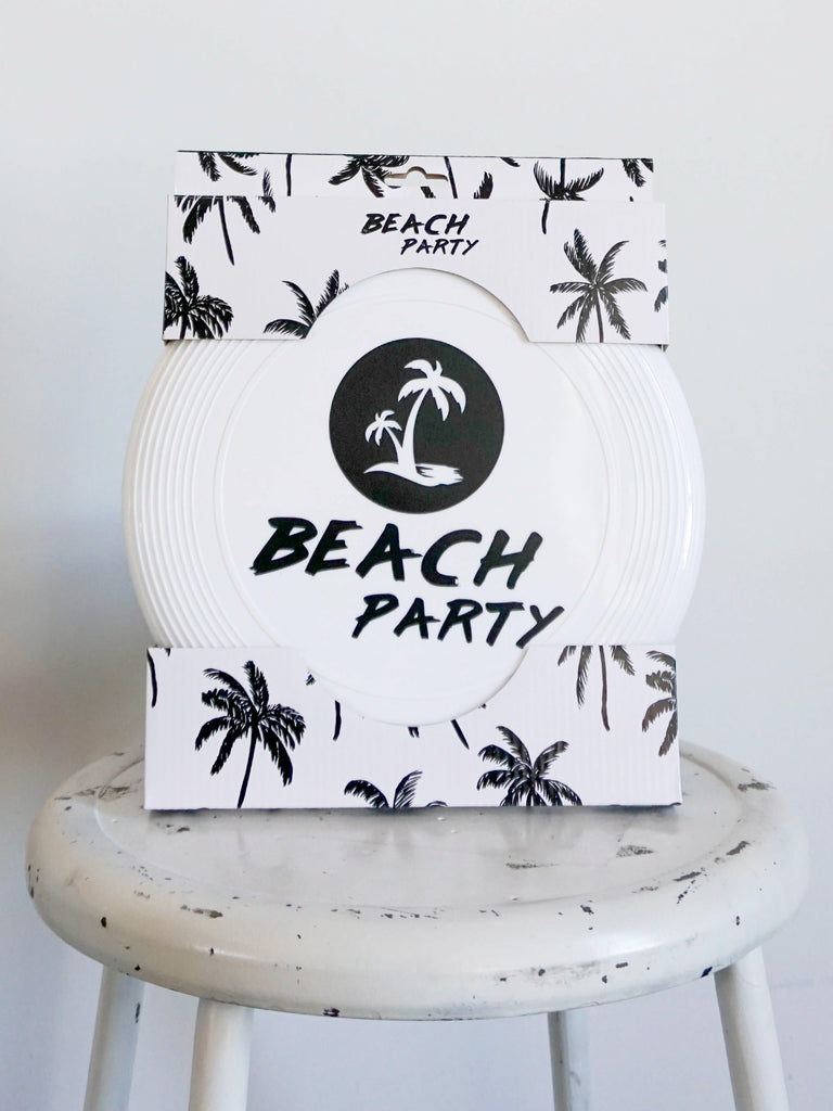 Beach party frisbee
