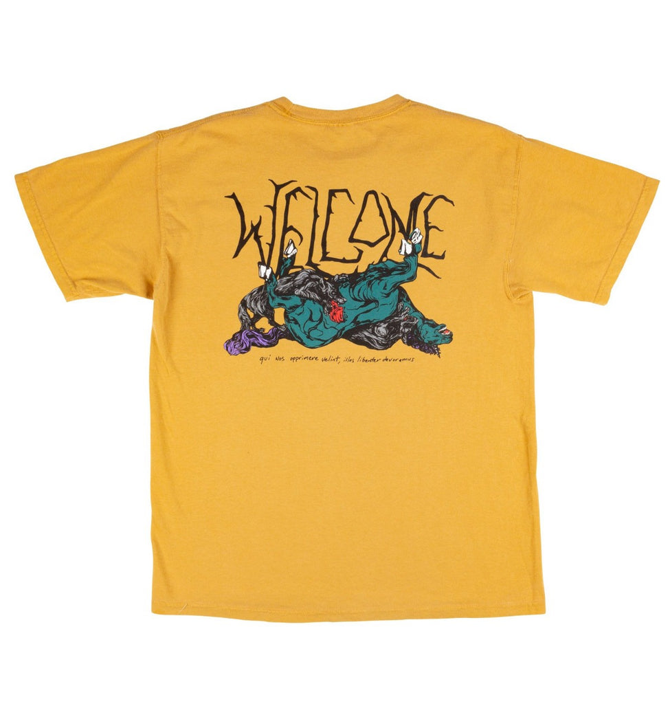 Welcome Goodbye Horses Garment Dye Tee Gold