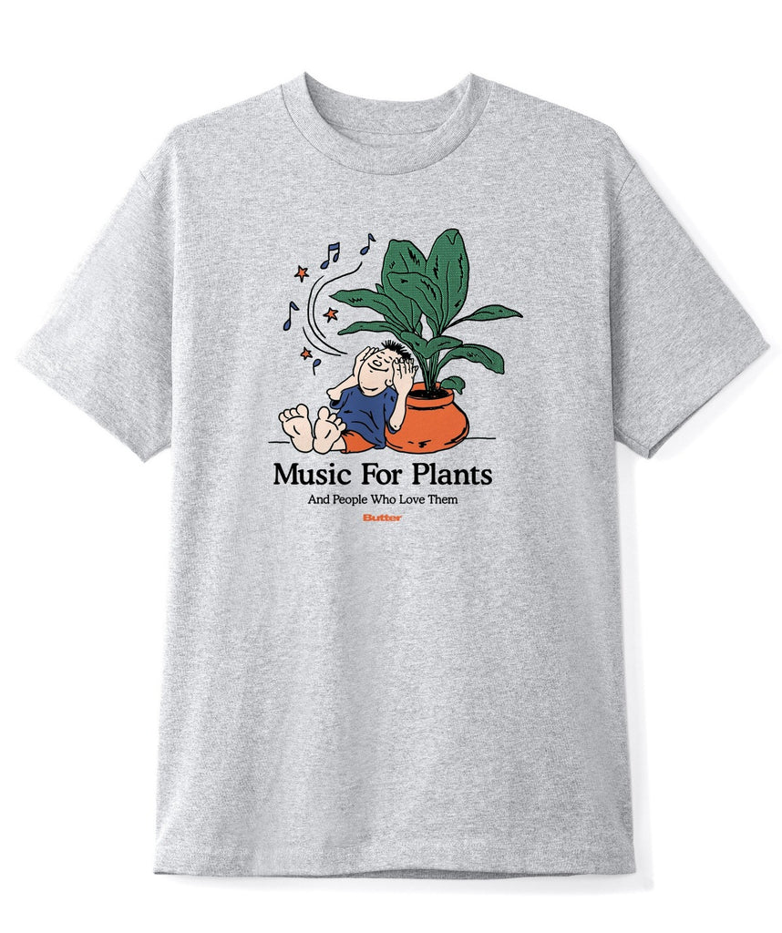 Butter Music For Plants Tee Grey