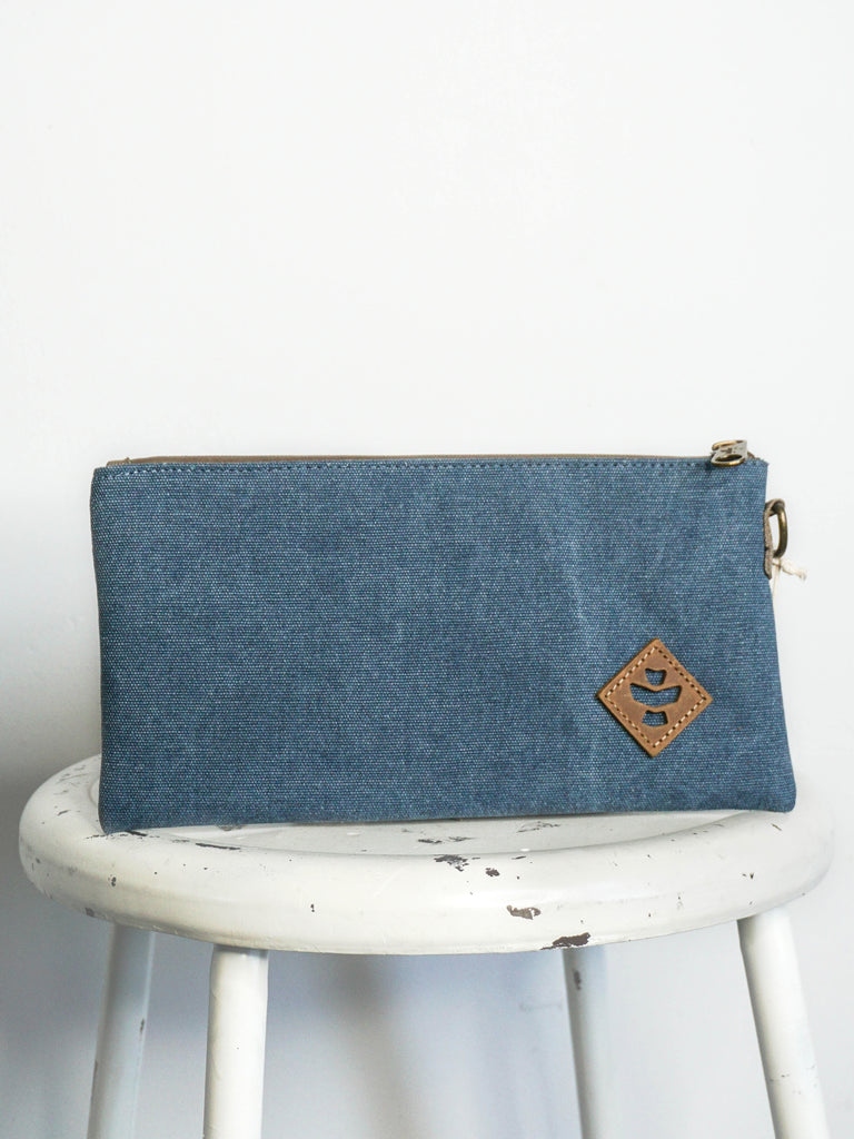 Revelry Supply Broker Zipper Pouch Marine Canvas