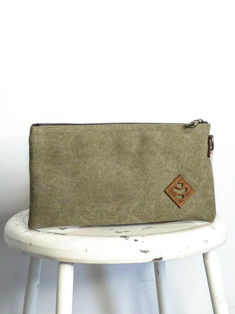 Revelry Supply Broker Zipper Pouch Sage Canvas