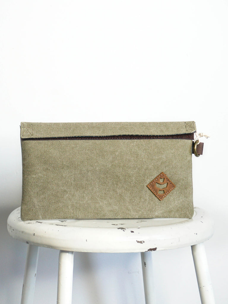 Revelry Supply Confidant Velcro Pouch Sage Canvas