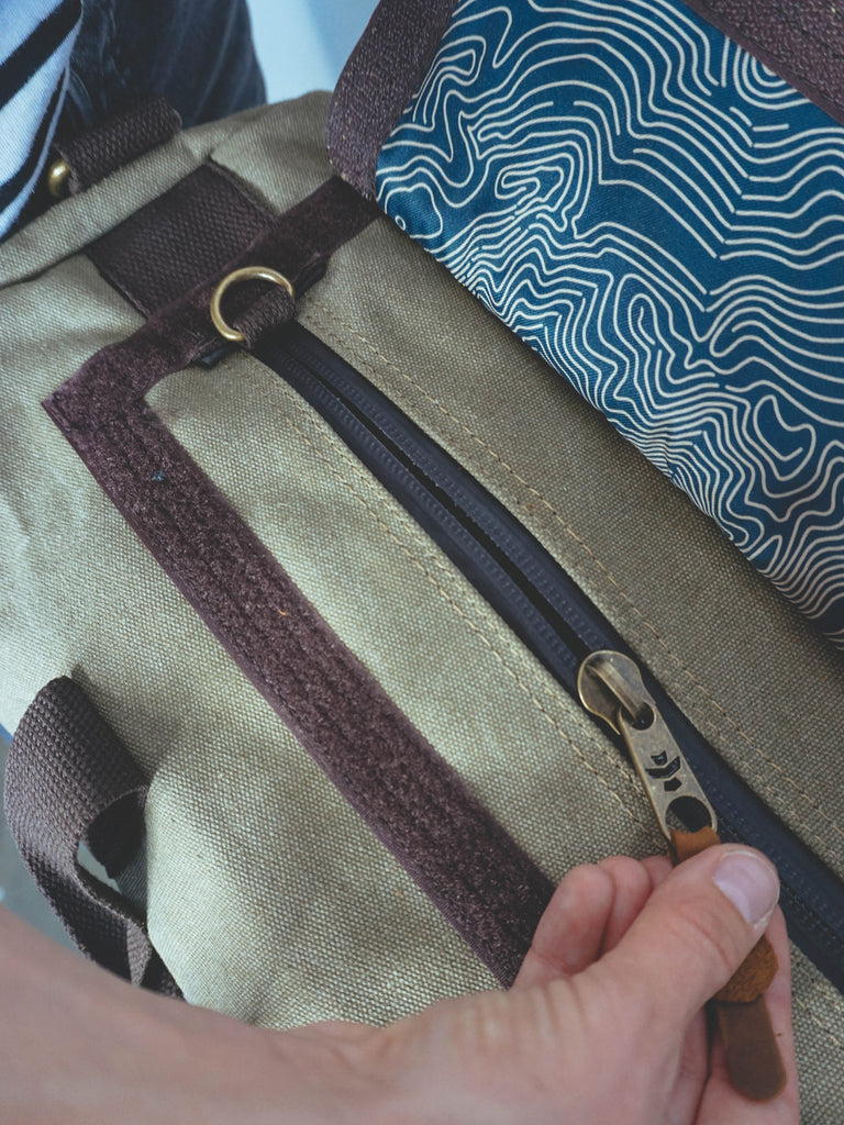 Revelry Overnighter Duffel Sage Canvas