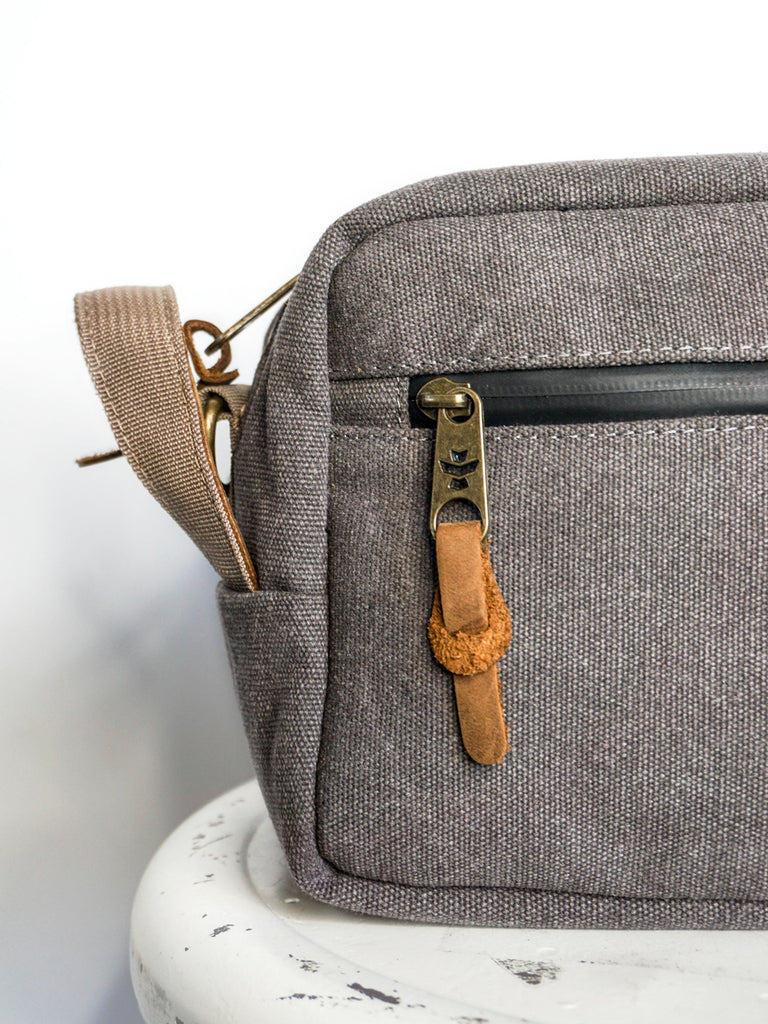 Revelry Supply Stowaway Dopp Canvas Ash