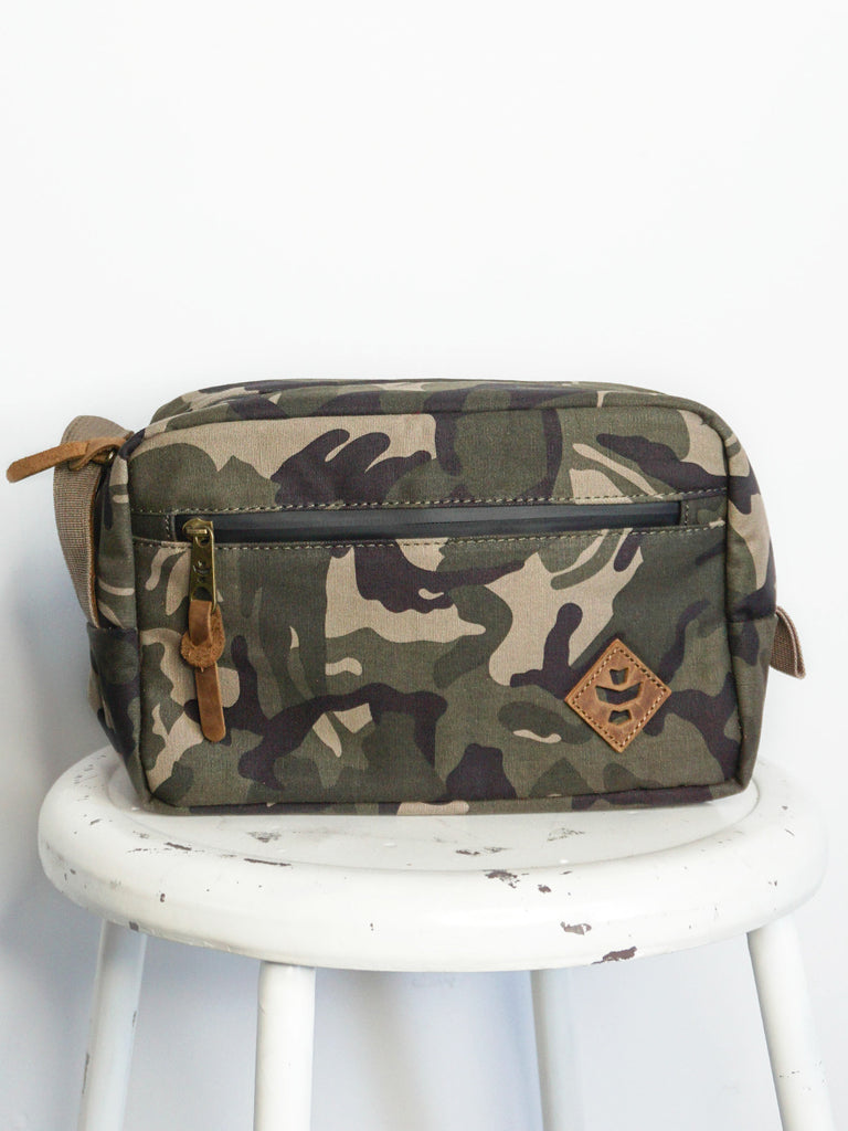 Revelry Supply Stowaway Dopp Brown Canvas