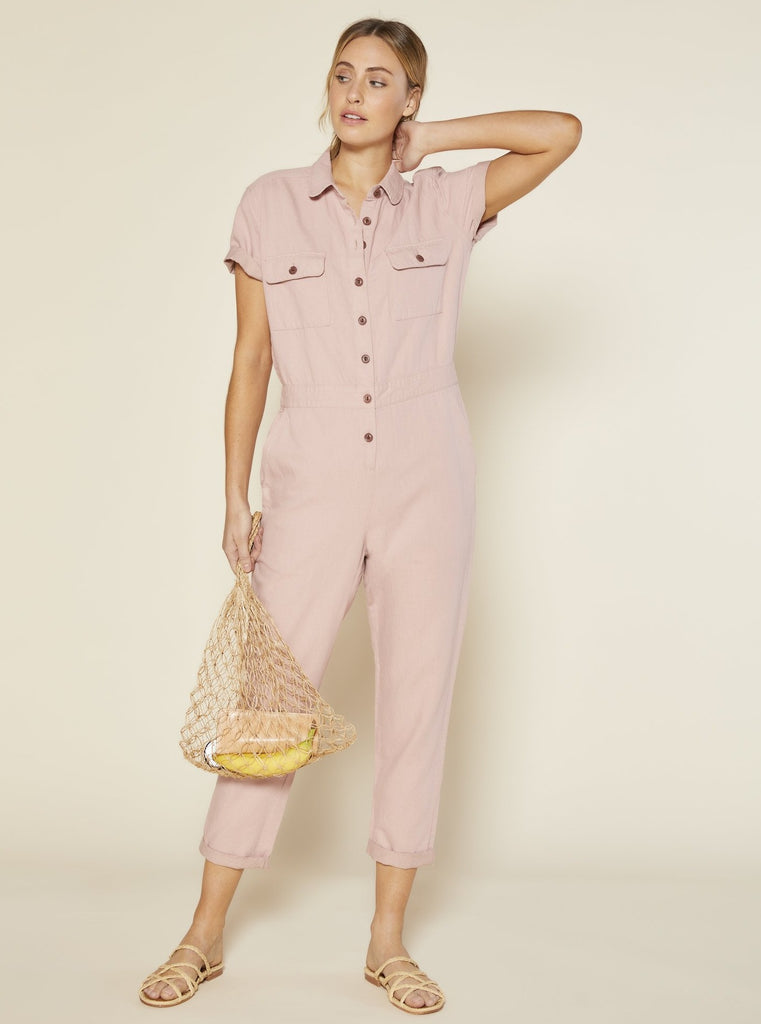 Outerknown S.E.A Jumpsuit Pink Moment