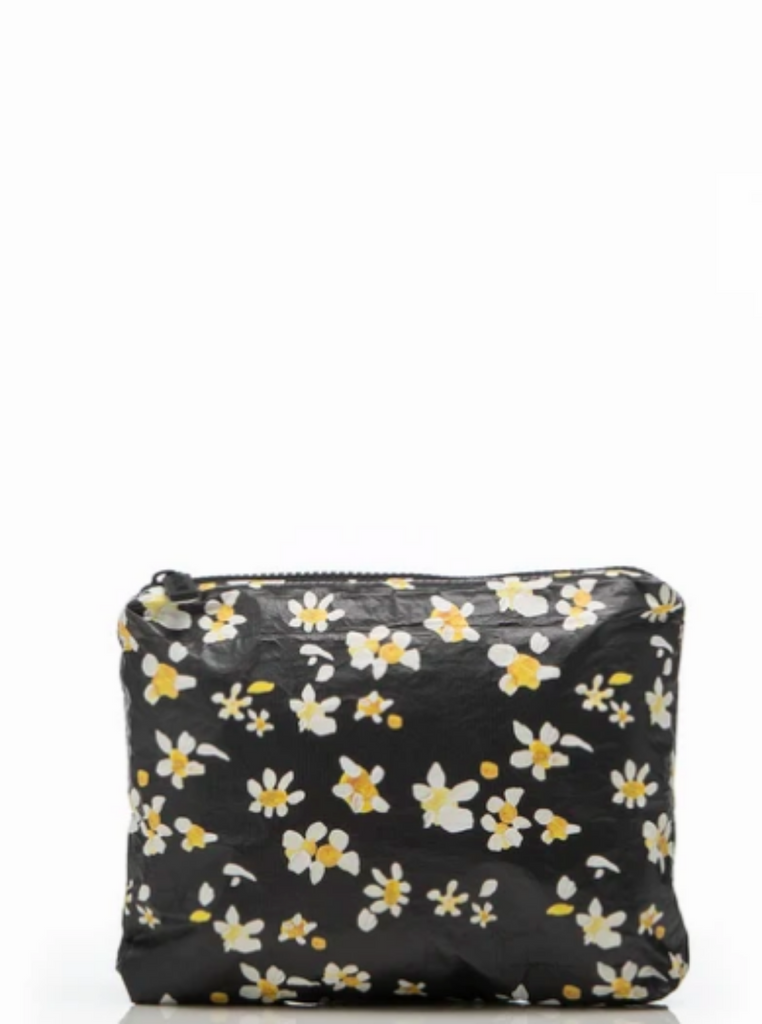 Aloha Collection x Salt Gypsy Small Pouch Black Daisy