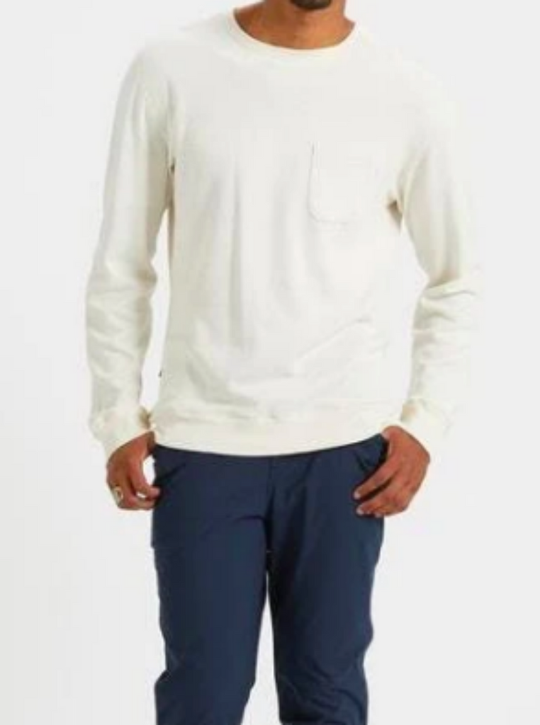 Vuori Jeffreys Pullover Crewneck Shirt Natural