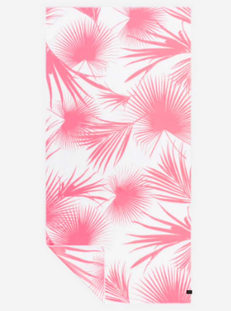 Slowtide Day Palms Quick Drying Towel Pink
