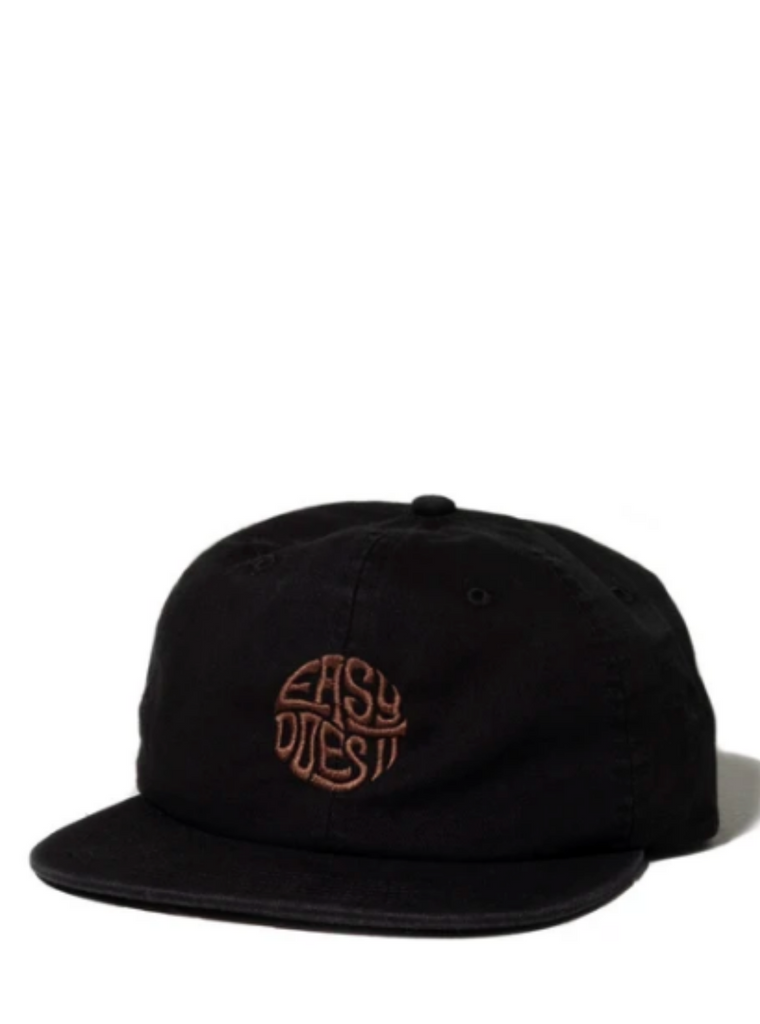 Katin Easy Does It Emblem 6 Panel Twill Hat Black