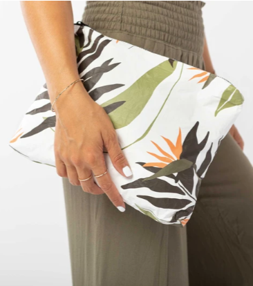 Aloha Collection Mid Size Pouch Painted Birds