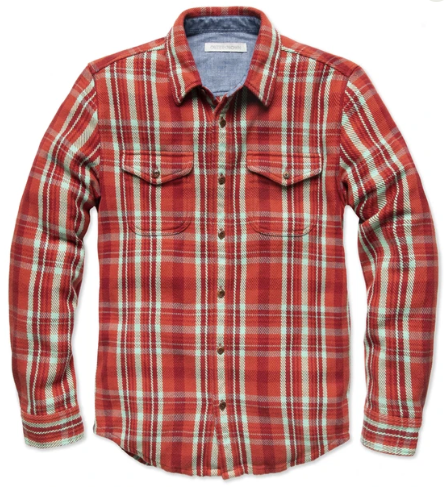 Outerknown Blanket Shirt Paprika Ventana Plaid