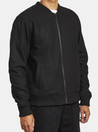 RVCA Troy Bomber Jacket Black