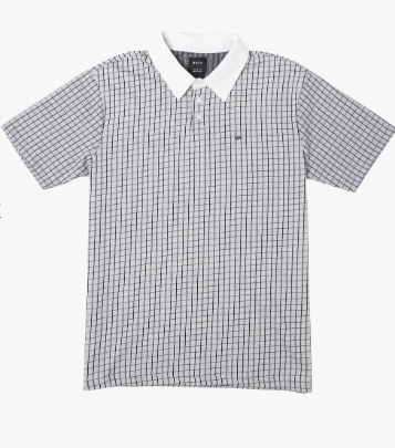 RVCA Freeman Short Sleeve Polo Shirt Antique White