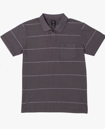 RVCA PTC Short Sleeve Polo Shirt Pirate Black
