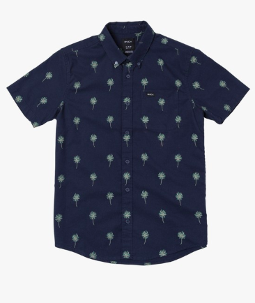 RVCA Boys That'll Do Print Short Sleeve Shirt