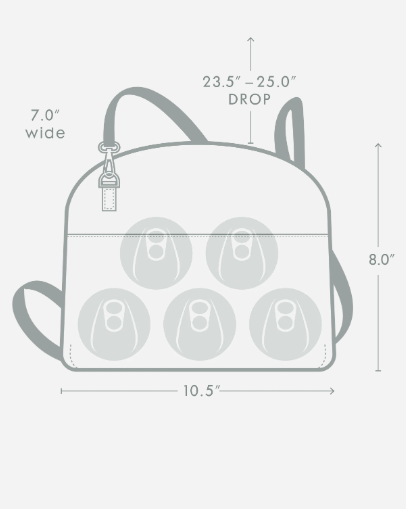Corkcicle Adair Crossbody Lunch Box Black