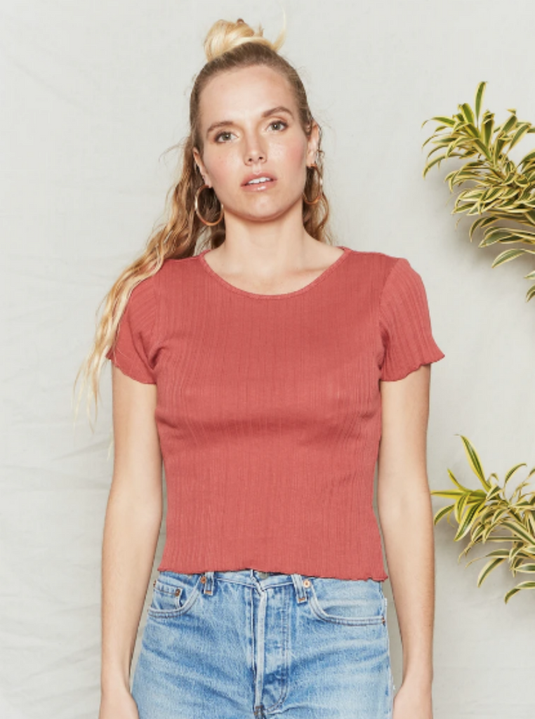 Back Beat Co Organic Cotton Karen Tee Desert Rose