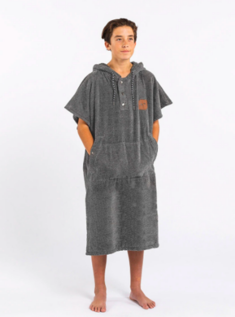 Slowtide The Digs Poncho Heather Grey Small