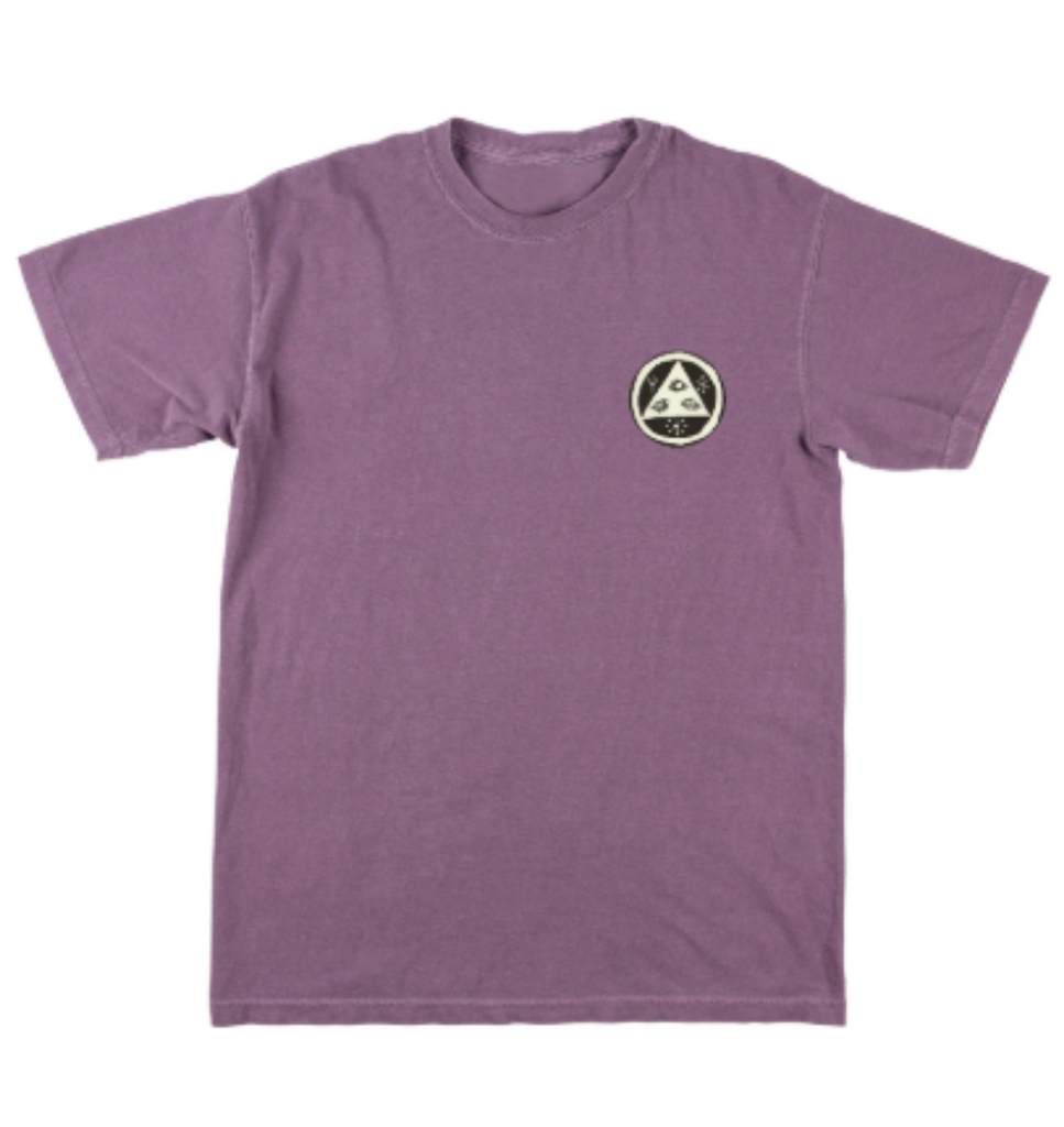 Welcome Sloth Tee Garment Dyed Wine