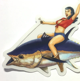 Abachar Bluefin Bettie Sticker