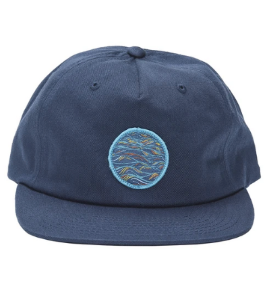 Uroko Sunrise Patch Unstructured 5 Panel Hat Navy