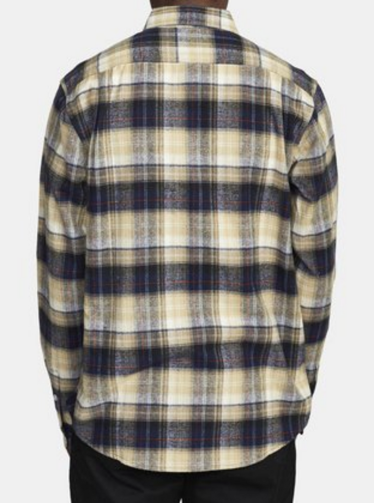 RVCA Emerson Flannel Long Sleeve Navy