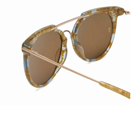 Wonderland Sun Stateline Sunglasses Light Blue/ Gold Flake