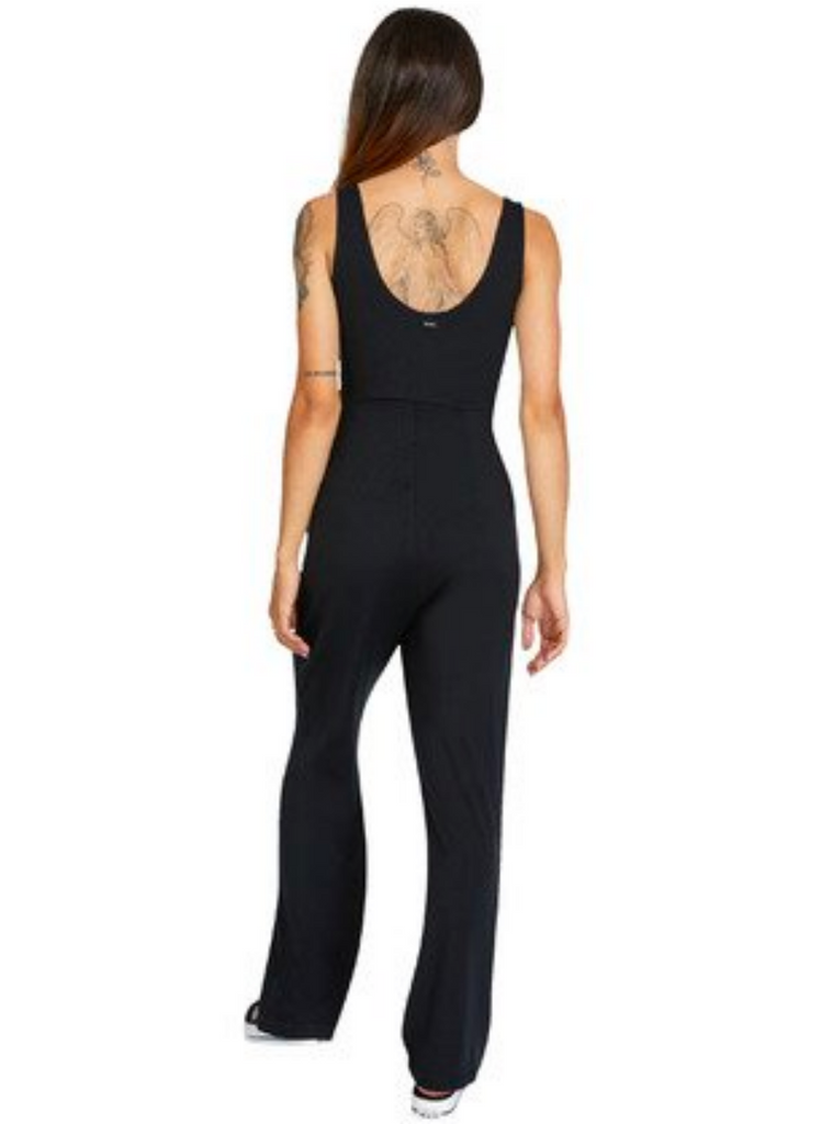 RVCA Lucky Night Knit Jumpsuit True Black
