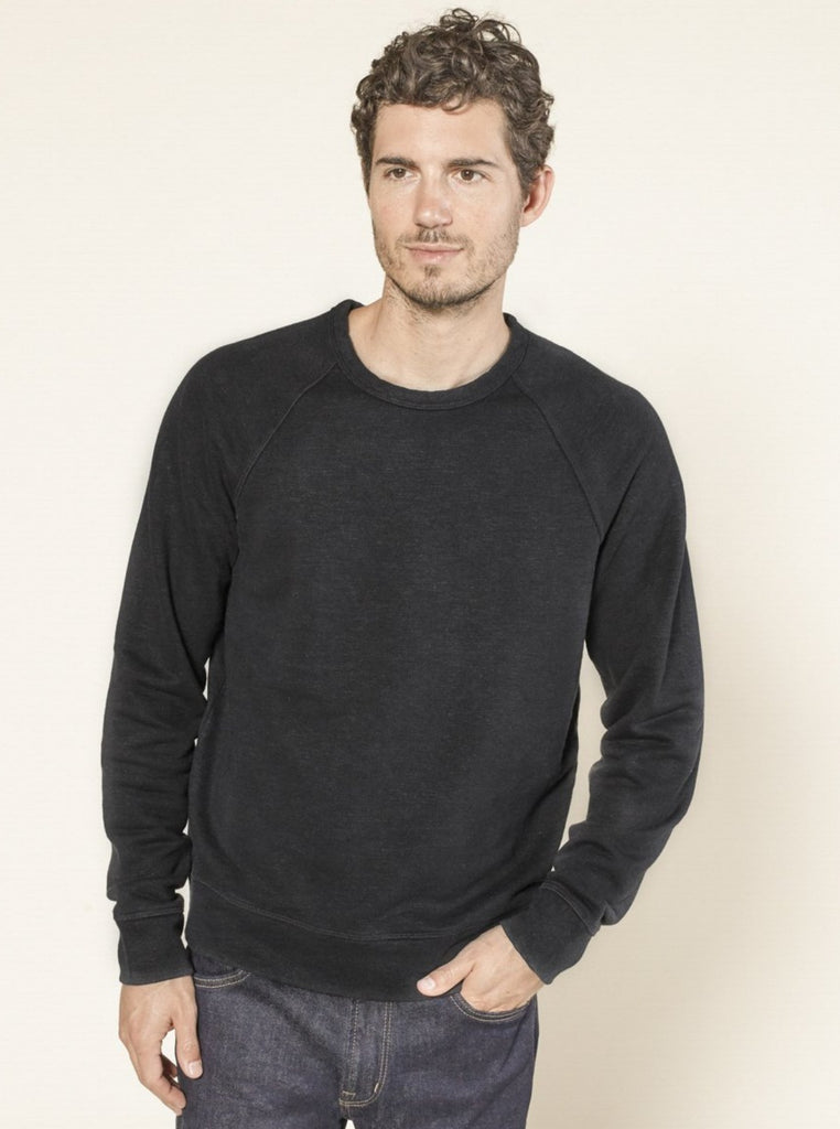 Outerknown Sur Crewneck Sweatshirt Pitch Black