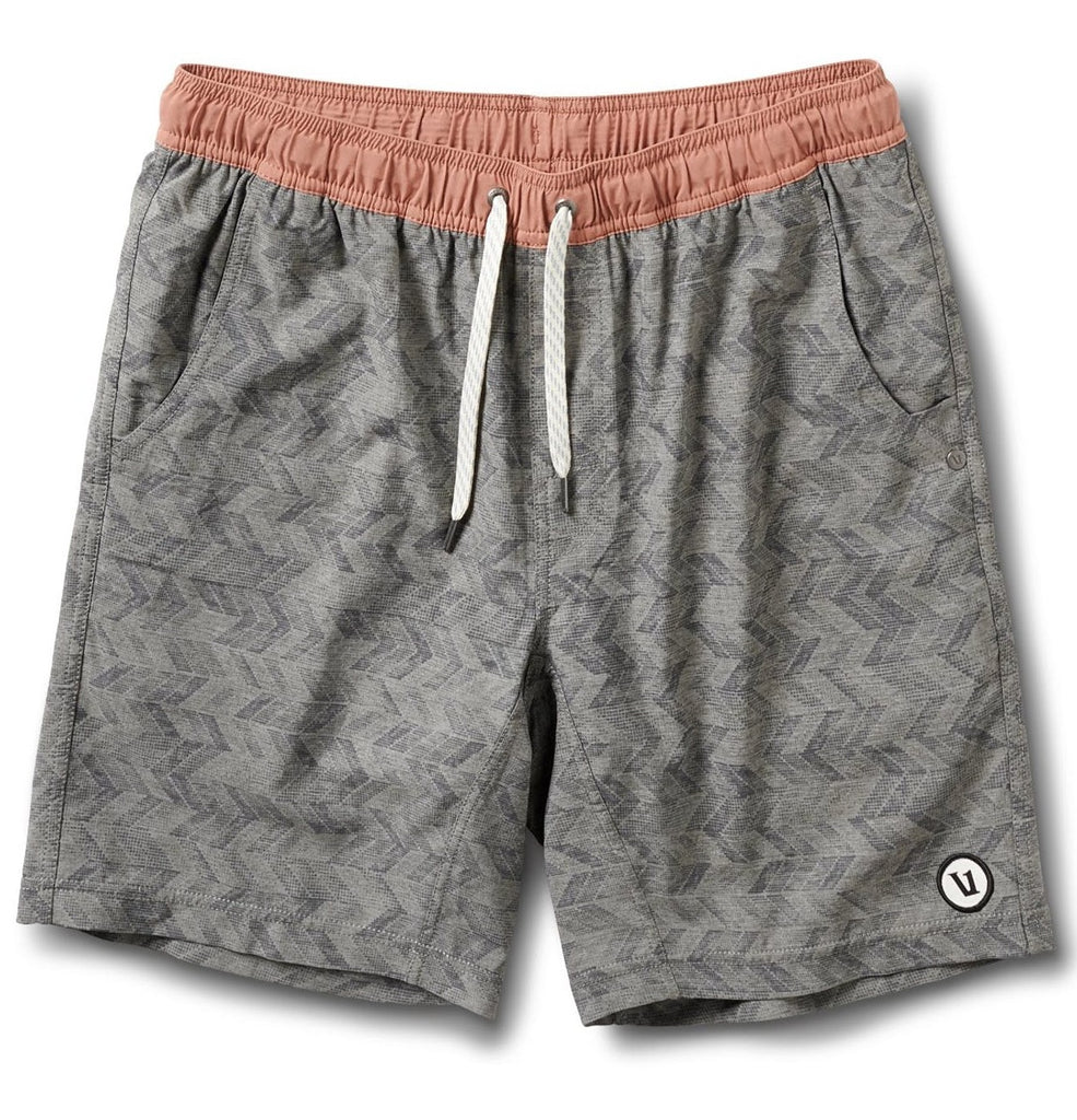 Vuori Kore Shorts Grey Herringbone