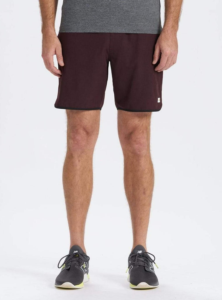 Vuori Banks Shorts Oxblood Linen Texture