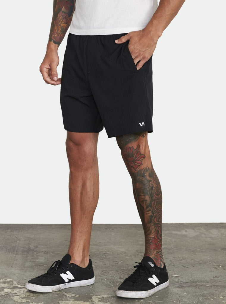 "RVCA Yogger Stretch 17"" Shorts Black"