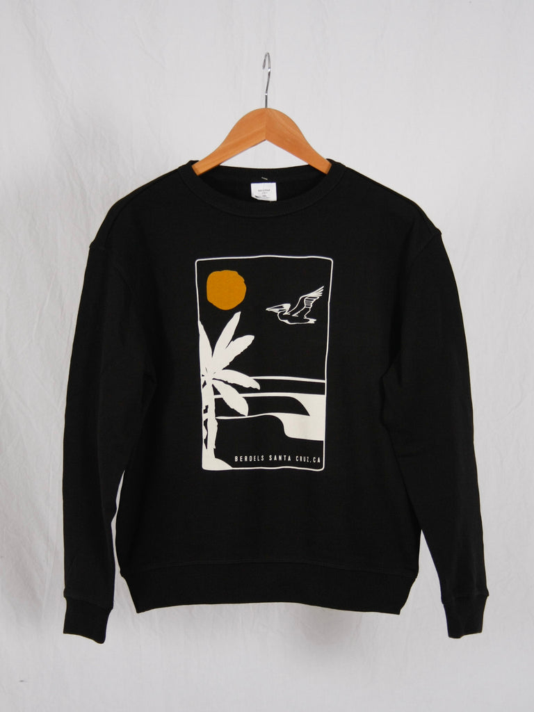 Aloha Nights Crew Neck Sweatshirt Black